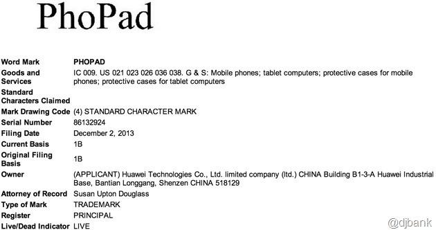 Huawei-PhoPad